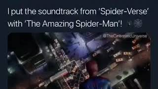 I put Spider-Man into the Spider-Verse soundtrack over The Amazing Spider-Man