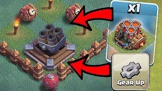 clash of clans mortar weapon gemmed to max!! check out my new morta...