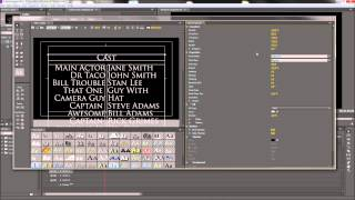 Premiere Tutorial: Hollywood Style Scrolling Credits  -HD-