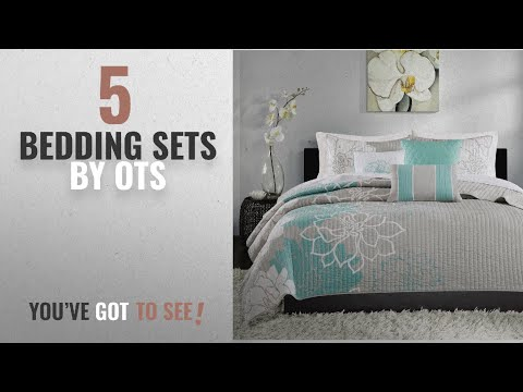 top-10-ots-bedding-sets-[2018]:-6-piece-stunning-grey-blue-white-king/cal-king-coverlet-set,-stylish