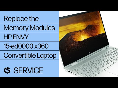 Replace the Memory Modules | HP ENVY 15-ed0000 x360 Convertible Laptop PC | HP