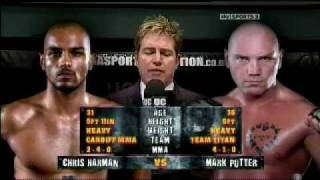 Chris Harman Vs Mark Potter K1 Cage Rage-uk  ucmma25 BeatDown