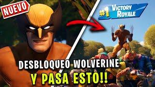 DESBLOQUEO A WOLVERINE en FORTNITE Y PASA ESTO!! - JorgeIsaac115