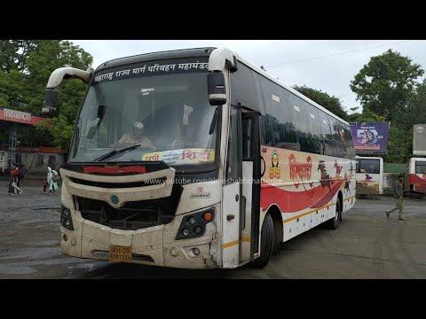 Pune To Shirdi By MSRTC ShivShahi AC Semi Sleeper Bus TATA MG Auto | Shivajinagar Bus Stand