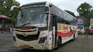 Pune to Shirdi by MSRTC ShivShahi AC Semi Sleeper Bus TATA MG Auto | Shivajinagar Bus Stand
