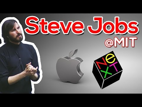 Steve Jobs President Ceo Next Computer Corp And Apple Mit Sloan Distinguished Speaker Se