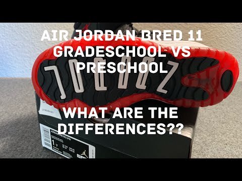2019 AIR JORDAN BRED 11 GS AND PS UNBOXING WHAT ARE THE DIFFERENCES??