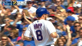 TB@CHC: Happ knocks in two with a single to center