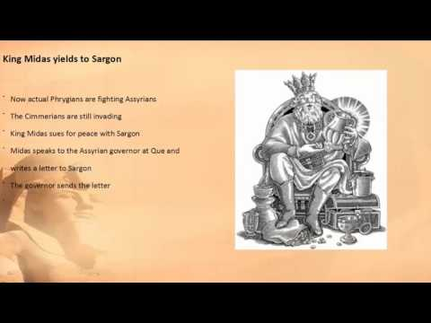 Events of 709 to 707 BC Sargon II king of Babylon