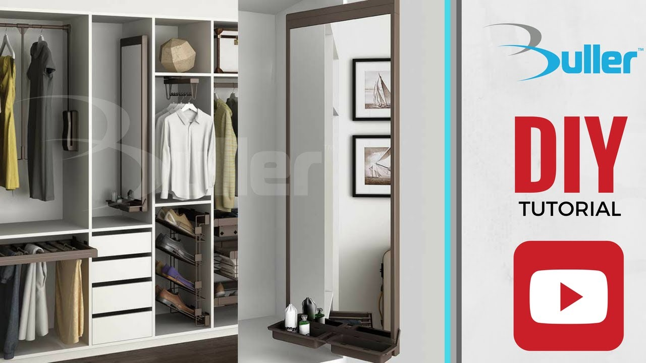 Etonnant How To Install MOKA Pull Out Mirror In A Wardrobe   DIY Tutorial