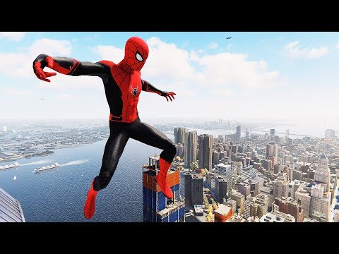 Spider-Man PS4 - Far From Home Suit Flawless Combat, Stealth & Free Roam Gameplay