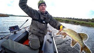 Минус 4 воблера, но рыбалка удачная получилась! Ловля щуки на воблеры осенью! Незнакомый водоем #3