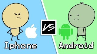Gambar cover Android VS iPhone