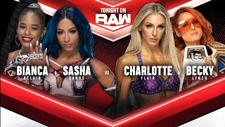 Becky Lynch Charlotte Flair Vs Sasha Banks Bianca Belair WWE Raw 11 10 2021 En Español