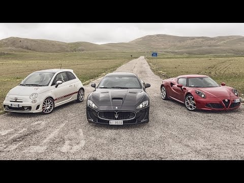 "Alfa Romeo 4C, Maserati MC Stradale, Abarth 595 | le ""emozioni Made in Italy"" [ENGLISH SUBTITLED]"