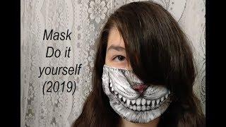 #mask Маска из ткани на лицо (своими руками)  Do it yourself. Monokuma. Danganronpa. (2019)