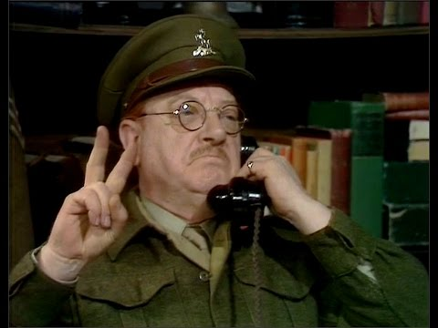 Dad's Army - A Man of Action - ... rather Churchillian don't you think?...