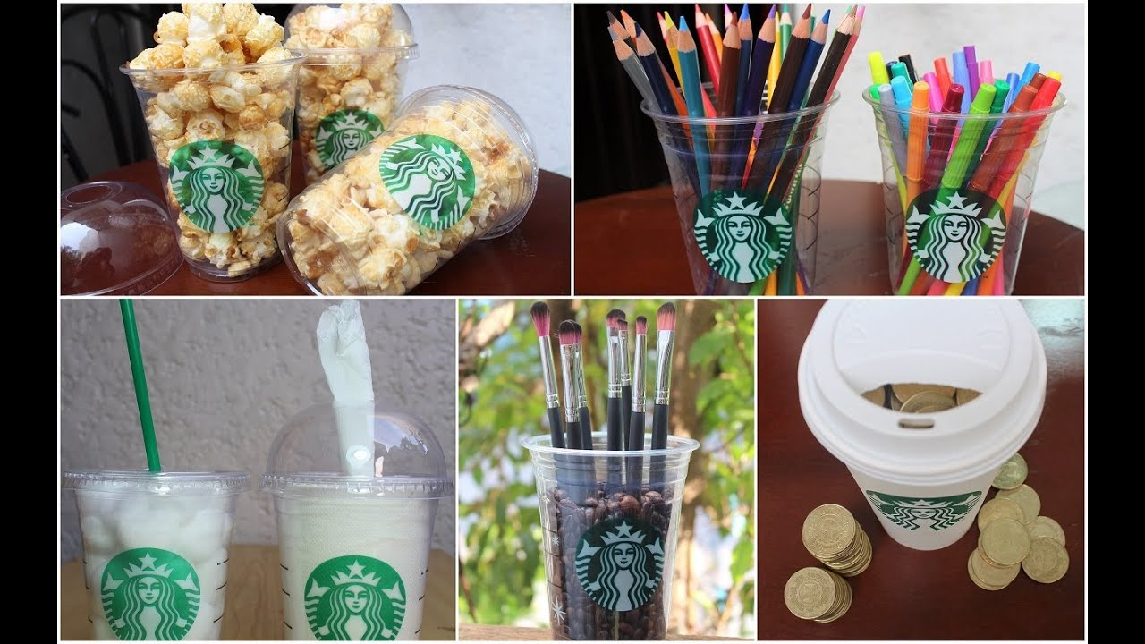 DIY Room Decorations Containers Using Starbucks Cups