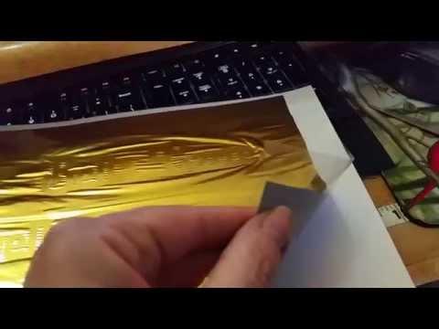 Gold Foil Print using a laminator that wont break your