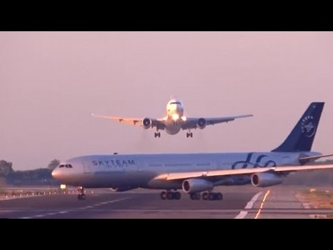 2 Planes Almost Crash At Barcelona Airport - Shocking Moment