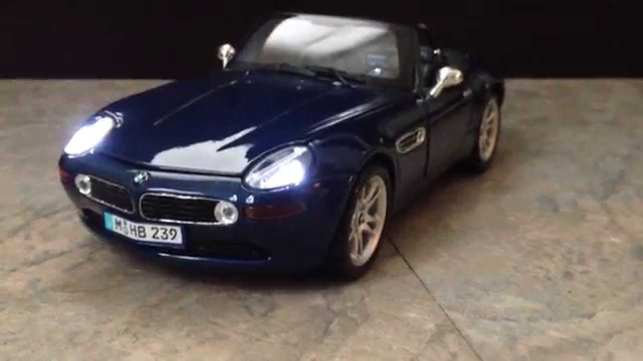 Bmw Z8 Diecast Car With Working Lights Life Like Replica