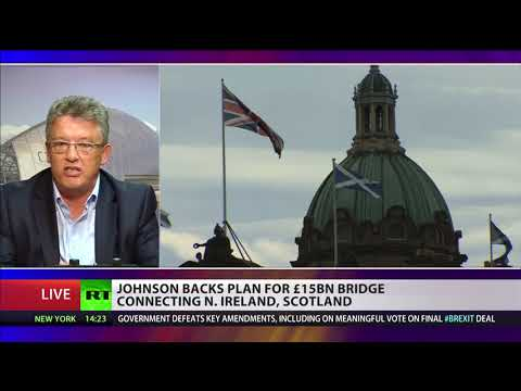 Johnson backs plan for £15bn bridge connecting N.Ireland & Scotland