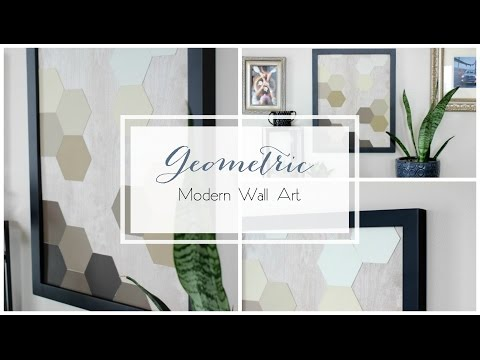 DIY Modern Geometric Wall Art