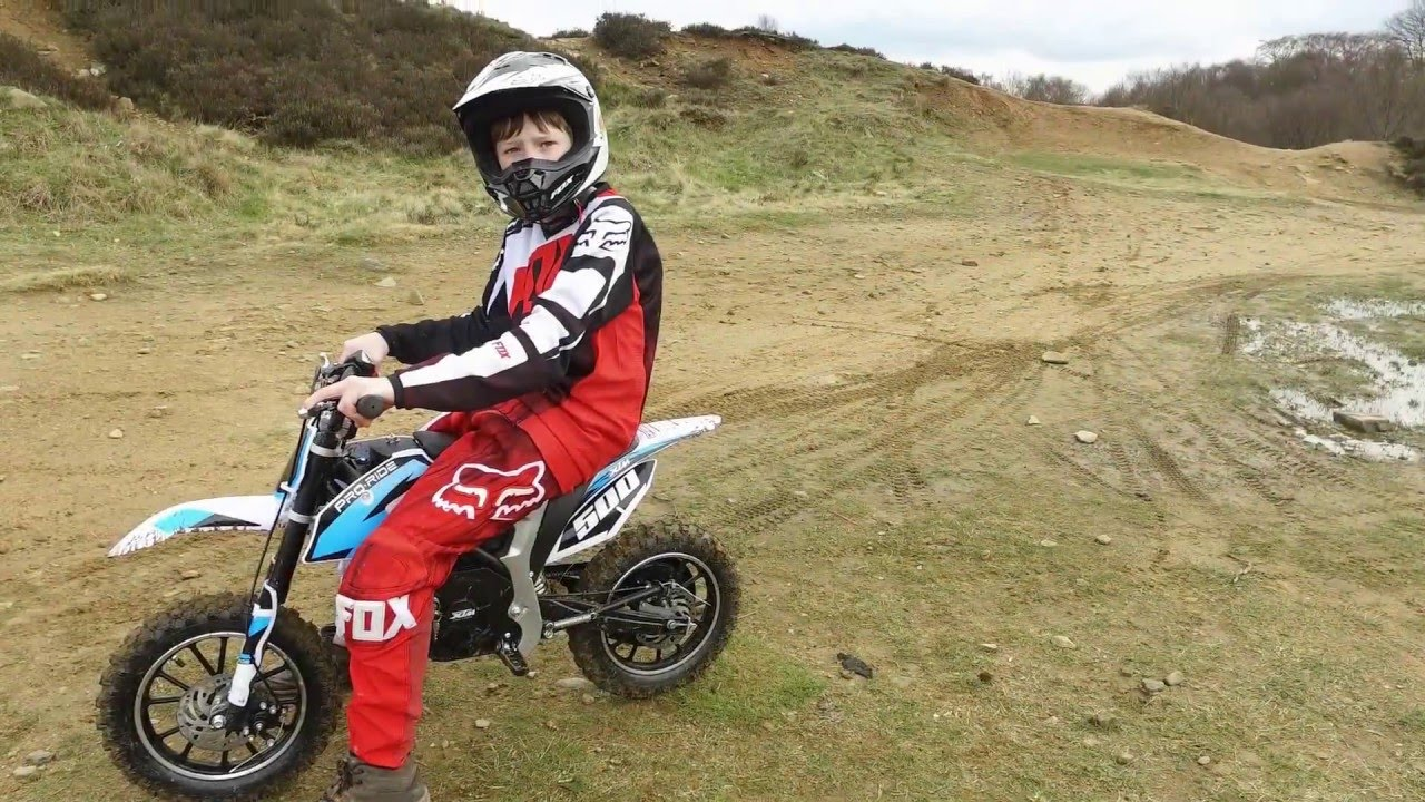 Kids Xtreme Pro-Rider Electric Dirt Bike Off-Road Test Ride - YouTube