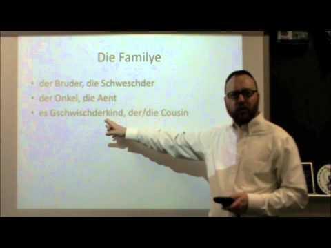 PA Dutch 101: Video 15 - Family Members