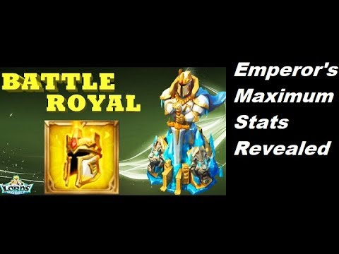 Lords Mobile Emperor's Maximum Stats Revealed ?? 王国紀元, 皇帝武器多强?