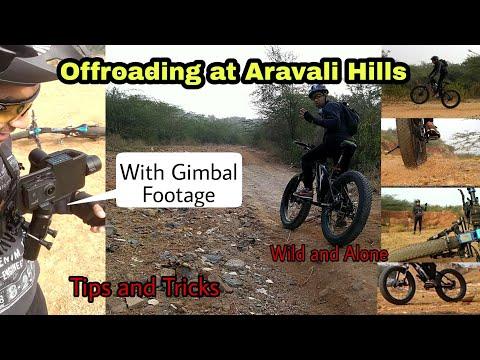 How to Off road on MTB Offroading at Aravali hills   Gurgaon Faridabad Road GFR    mountain biking