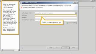 Create a relational connection to SAP HANA in the repository: Information design tool 4.x