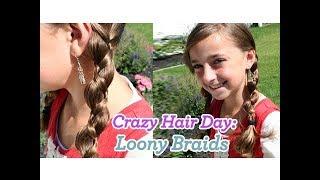 Loony Braids | Crazy Hair Day | Cute Girls Hairstyles
