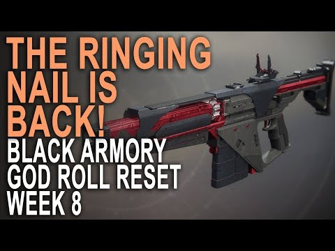The Ringing Nail Returns! Black Armory God Roll Reset Weapon