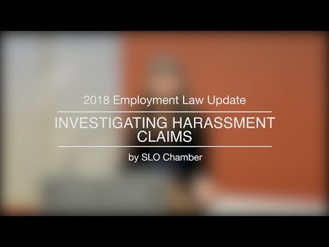 2018 Employment Law Update | Investigating Harassment Claims