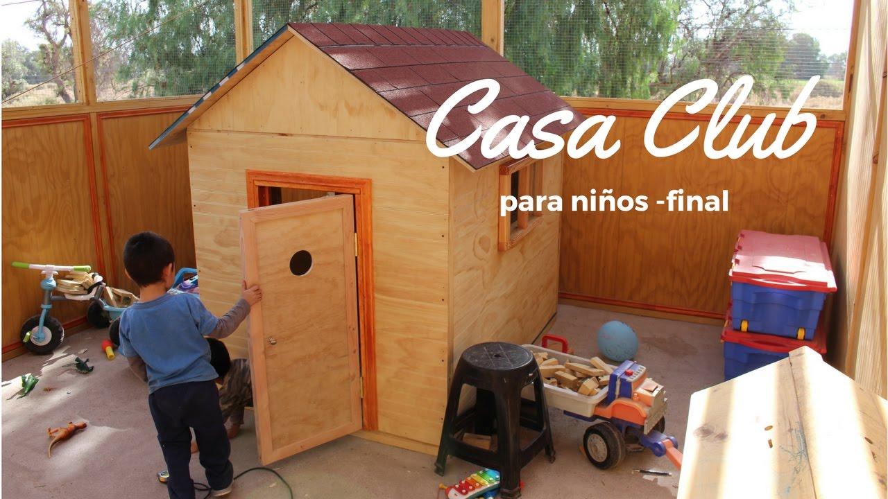 como construir una casa de madera para nios parte final