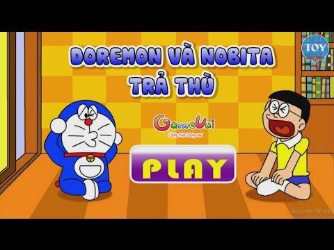Trò chơi Doremon và Nobita trả thù Chaien trong lớp học - cu lỳ chơi game vui nhộn hài hước