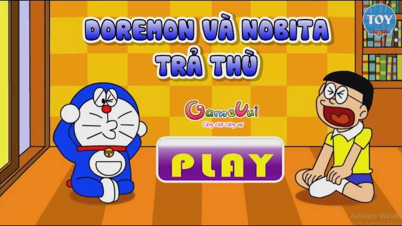 Trò chơi Doremon và Nobita trả thù Chaien trong lớp học – cu lỳ chơi game vui nhộn hài hước