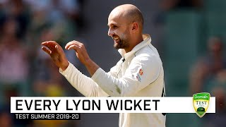 Every wicket: Watch all 27 of Lyon's wickets for the summer