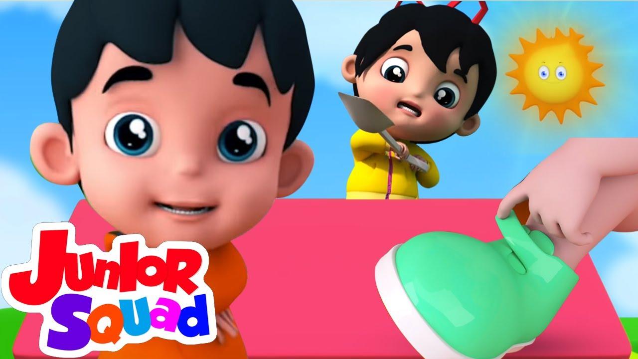 Satu dua gesper sepatu saya | Lagu Anak Anak | Video edukasi | Junior Squad | Lagu anak indonesia