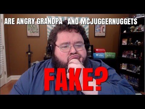 Are Angry Grandpa and McJuggerNuggets FAKE?