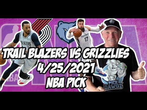 Portland Trail Blazers vs Memphis Grizzlies 4/25/21 Free NBA Pick and Prediction NBA Betting Tips