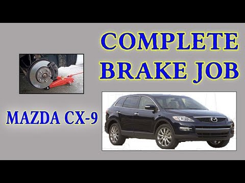 DIY Mazda CX-9 Brake, Rotor, & Hardware Replacement Job