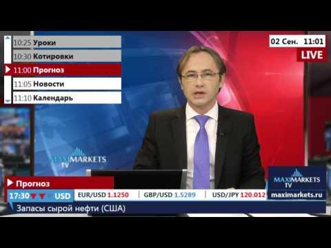 02.09.15 (11:00 MSK) - Прогноз рынка Форекс. MaxiMarkets форекс ТВ.