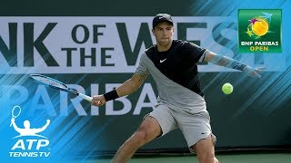 Del Potro, Federer, Coric advance to quarterfinals | Indian Wells 2018 Highlights Day 7