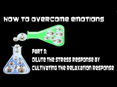 How To Overcome Emotions Part 5: Dilute the Stress Response by Cultivating the Relax Response
