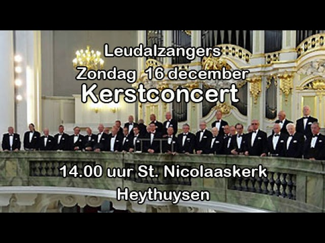 Aankondiging kerstconcert Leudalzangers