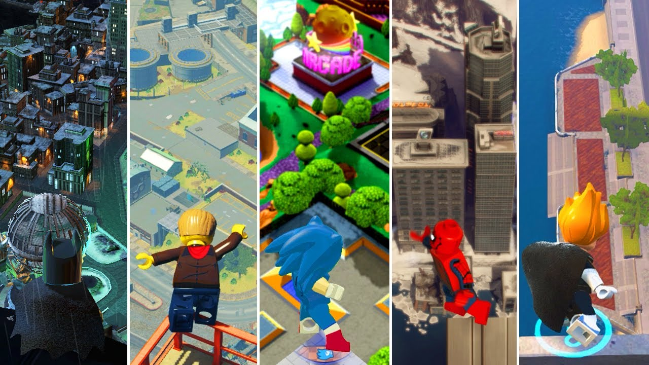 Jumping From the Highest Points in LEGO Videogames (Comparison)