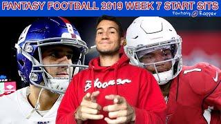 Fantasy Football 2019 Week 7 Start Sits