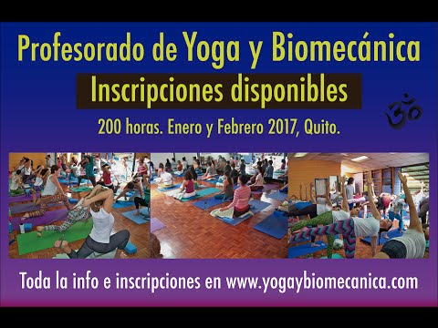 Profesorado de Yoga y Biomecanica 2017- Quito - YouTube